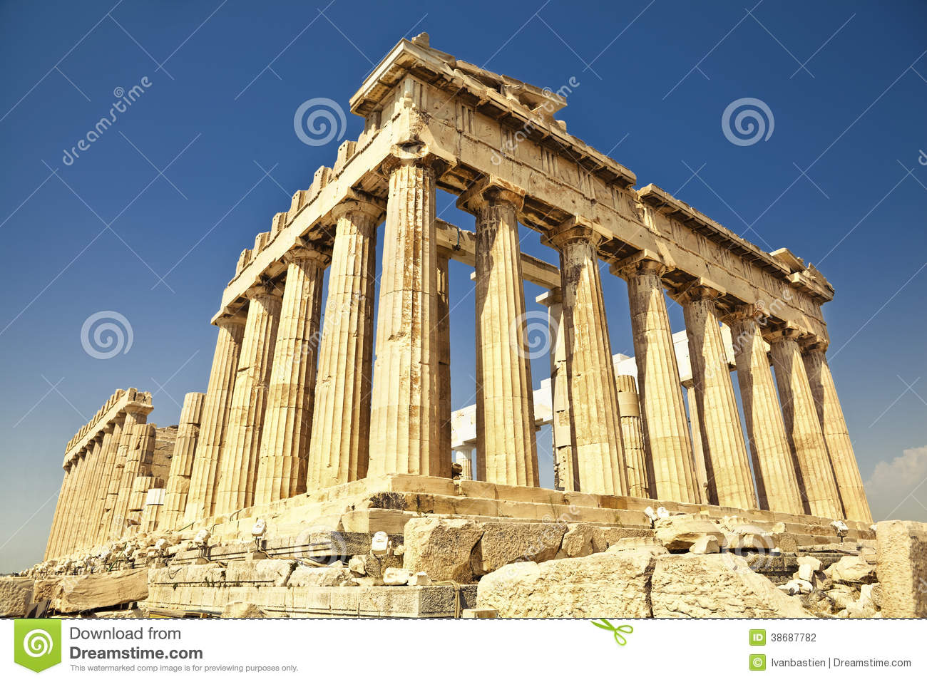 Parthenon Acropolis Athens Greece Antique Temple Called 38687782